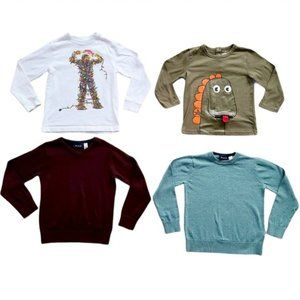 Lot of Boys Long Sleeve T-Shirts & Sweaters Size 5